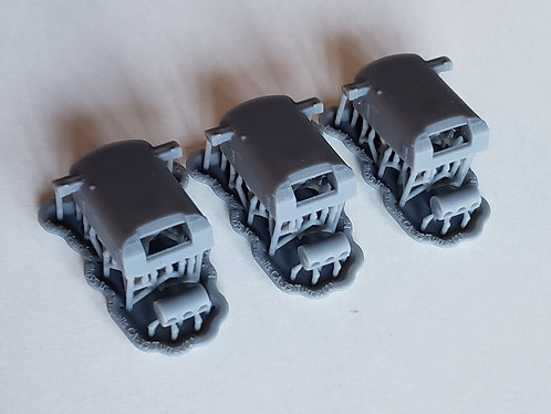 "1/350 USS Indianapolis CA-35 8""/55 cal. Turrets with Trunnions"