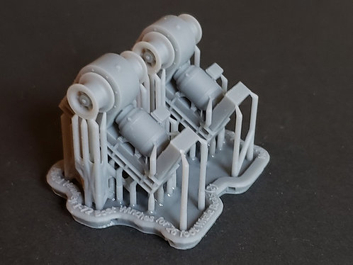 1/72 Boat Winches, US Navy, for handling 26' Whale Boats