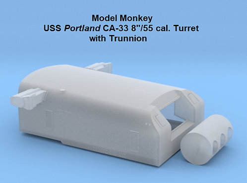 "1/72 USS Portland CA-33 8""/55 cal. Turret with Trunnion"