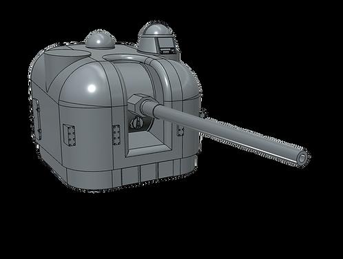 """1/100 5""""/54 cal. Mk.42 """"Frog-eye"""" Mount, single dome"""