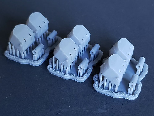 """1/350 5""""/38 Mk.32 Mounts for Cruisers, separate trunnions"""