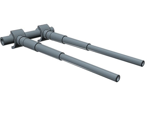 1/96 Bismarck and Tirpitz 38 cm Barrels (1 pair)