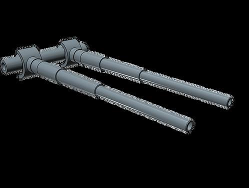 1/100 Bismarck and Tirpitz 38 cm Barrels (1 pair)