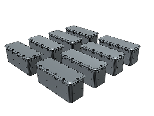 1/128 20mm Oerlikon Ready Service Ammunition Lockers
