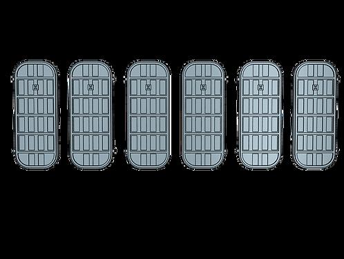 """1/72 Ship's Doors, US Navy, Set D, 5-bar, Condition """"X"""""""
