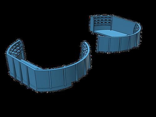 1/200 Fletcher class Forward Twin Bofors Tubs