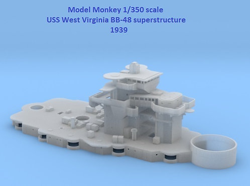 1/350 USS West Virginia BB-48 Superstructure, 1939