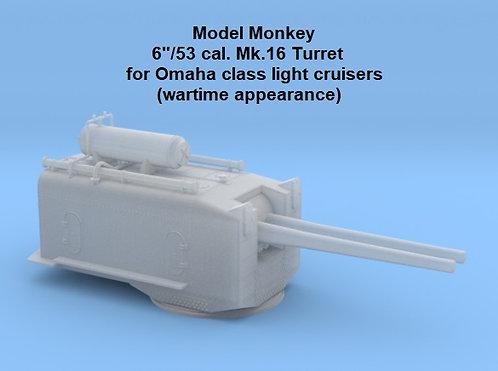 "1/192 Omaha class Cruiser 6""/53 cal. Turrets (set of 2)"