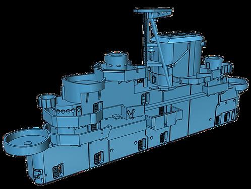 1/350 USS Intrepid CV-11 Island, April 1943 - February 1944