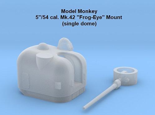"HO scale 5""/54 cal. Mk.42 ""Frog-eye"" Mount, single dome"