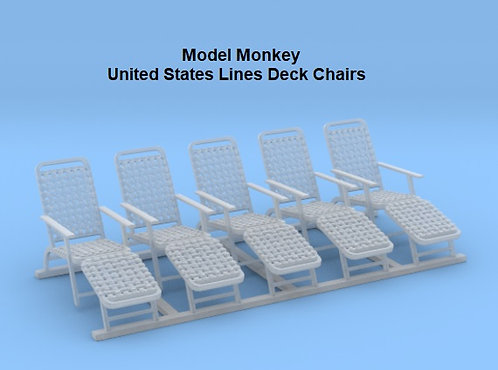 1/96 Deck Chairs, United States Lines
