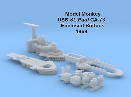 1/600 USS St. Paul CA-73 Enclosed Bridges, 1968