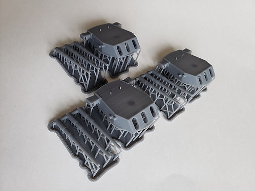 "1/350 Iowa class 16""/50 cal. Turrets (only for Tamiya)"