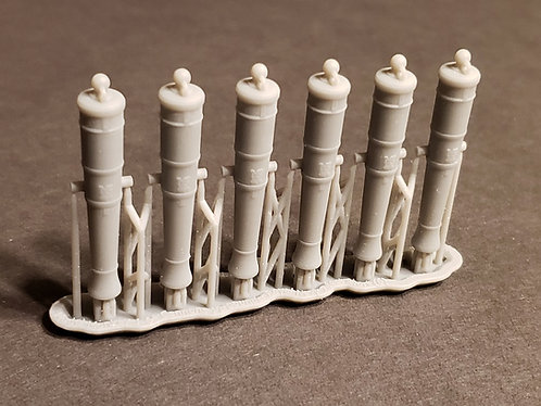 1/64 Royal Navy 12-pounder Cannons, Blomefield 1790 short-pattern