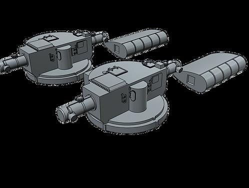 1/192 Mk.34 Fire Control Directors, Cold War, with Mk.13 Radar Antennas