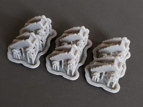 1/96 Carriages for 24-pounder Cecil Iron Works Cannons