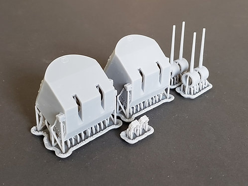 "1/128 5""/38 Mk.28 Mounts for Fast Battleships + early Atlanta class Crui"
