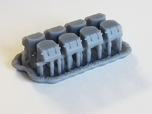 "1/1200 5""/38 cal. Mk.32 Twin Mounts for Cruisers, Carriers, old Battleships"