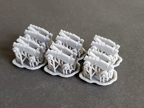 """1/72 Carriages for 9-pounder """"long-pattern"""" Cannons"""
