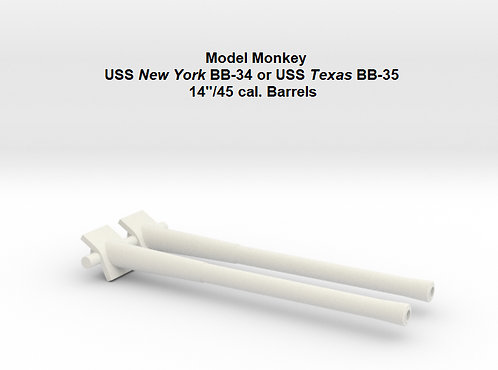1/72 USS New York BB-34 and USS Texas BB-35 Barrels