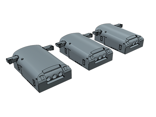 "1/200 USS Indianapolis CA-35 8""/55 cal. Turrets with Trunnions"
