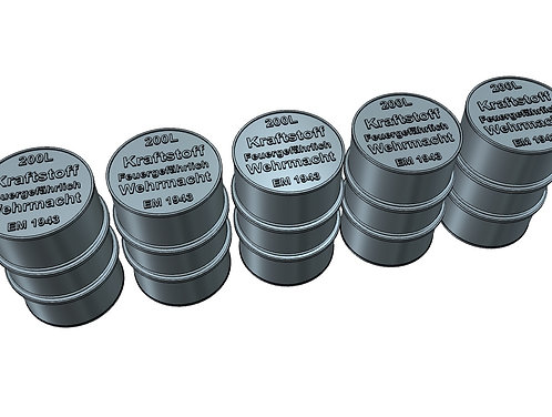 1/144 Fuel Drums, Wehrmacht 1943, 200 liters