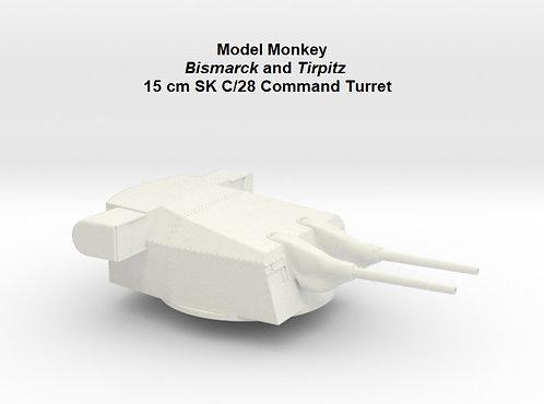 "1/50 Bismarck and Tirpitz 15 cm SK C/28 ""Command"" Turret"
