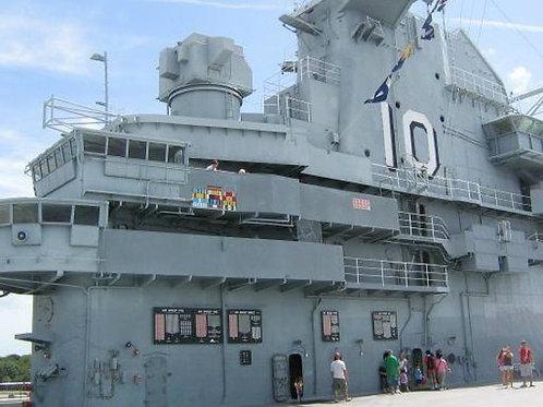 1/350 USS Yorktown CVS-10 Island, 1968-1970 (Vietnam War)
