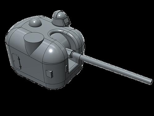 """1/144 5""""/54 cal. Mk.42 """"Frog-eye"""" Mount, single dome"""