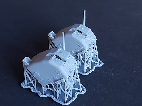 """1/125 5""""/38 cal. Mk.30 """"Double Knuckle"""" Mounts, late"""