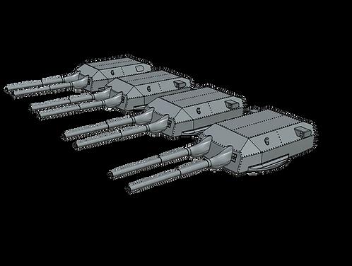 "1/400 H-Klasse H-43 and H-44 50.8 cm (20"") Turrets"