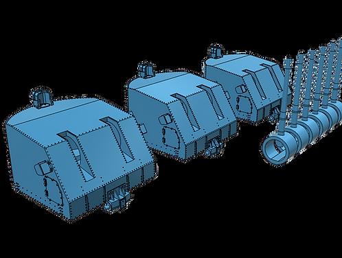 "1/200 Sumner class and Gearing class 5""/38 cal. Mk.38 Mounts"