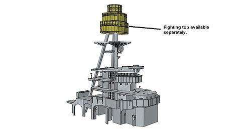 1/426 USS Arizona BB-39 Superstructure, 1931-1940