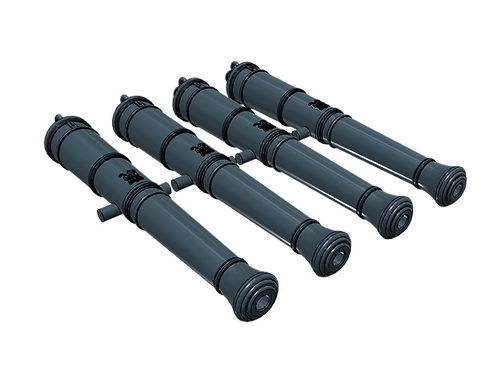 """1/84 Royal Navy 9-pounder Cannons, Blomefield 1790, """"Long Nines"""""""