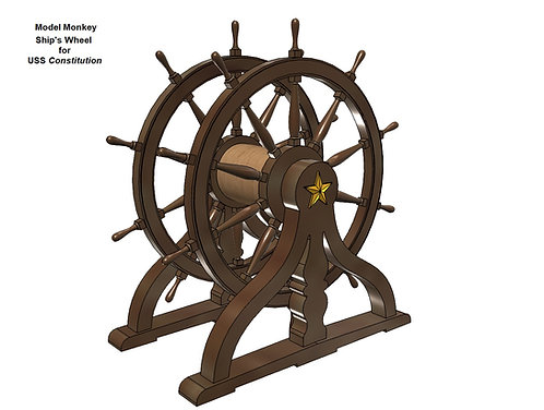 1/72 USS Constitution Ship's Wheel (Helm)