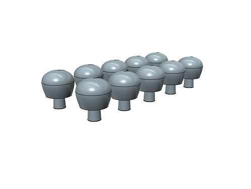 1/600 SATCOM Domes for Royal Navy Warships