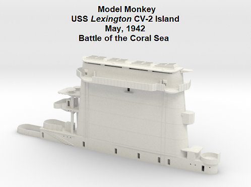 1/144 USS Lexington CV-2 Funnel, May 1942, Battle of the Coral Sea