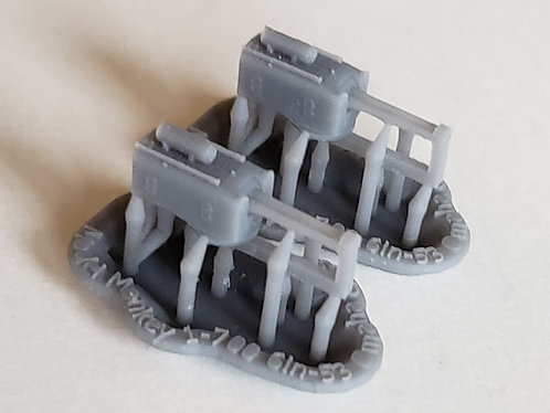 "1/700 Omaha class Cruiser 6""/53 cal. Turrets (set of 2)"