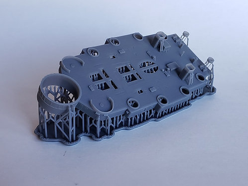 1/350 USS Pennsylvania BB-38 Superstructure, 01 Level (former boat deck), 1945