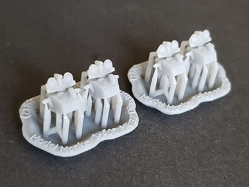 1/600 Mk.37 Fire Control Directors for Royal Navy Warships