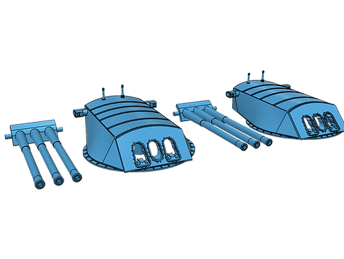 1/200 USS Arizona BB-39 Turrets, 1916-1928, with Barrels