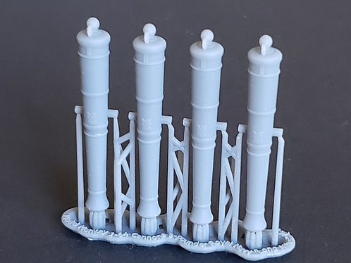 """1/64 Royal Navy 9-pounder Cannons, Blomefield 1790 """"Long Nines"""""""
