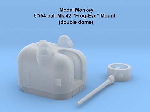 "HO scale 5""/54 cal. Mk.42 ""Frog-eye"" Mount, double dome"