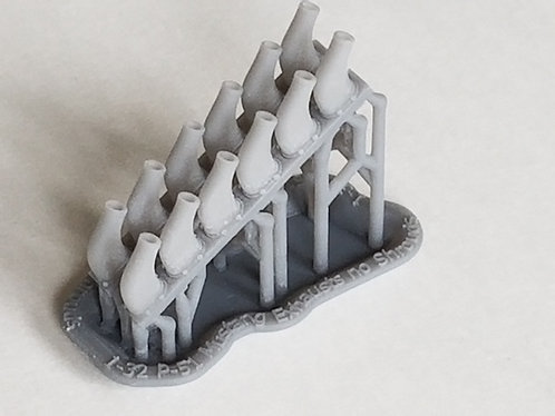 1/32 P-51 Mustang Hollow Exhausts, no Shrouds