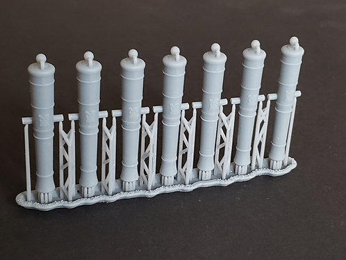 1/64 Royal Navy 24-pounder Cannons, Blomefield 1790 long-pattern