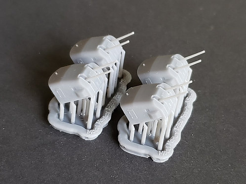 """1/350 Porter and Somers class 5""""/38 cal. Mk.22 Mounts"""