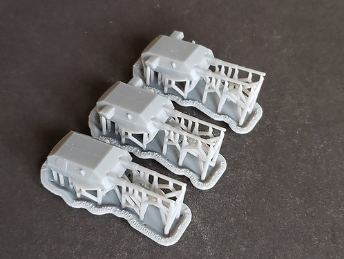 1/600 Gneisenau 38 cm Twin Turrets with Blast Bags