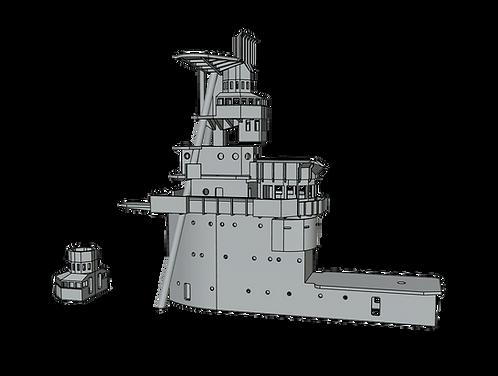 1/350 USS Saratoga CV-3 Island, 1931-1932