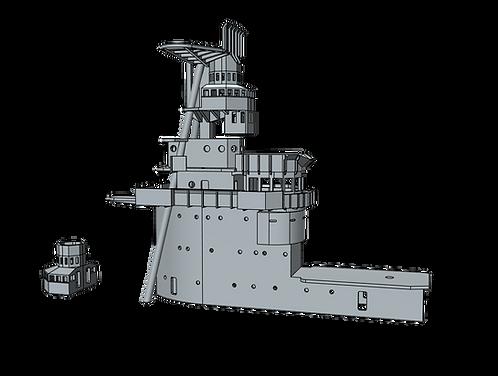 1/700 USS Saratoga CV-3 Island, 1931-1932