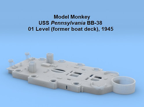 1/96 USS Pennsylvania BB-38 01 Level, 1945